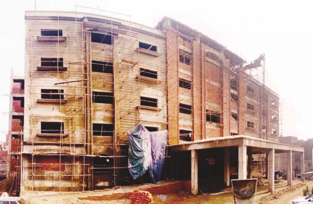 On Going Construction of Dr A Q Khan Hospital
